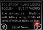 Image of biplane Los Angeles California USA, 1928, second 1 stock footage video 65675072951