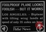 Image of biplane Los Angeles California USA, 1928, second 3 stock footage video 65675072951