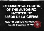 Image of Cierva autogyro Madrid Spain, 1924, second 1 stock footage video 65675072952