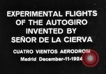Image of Cierva autogyro Madrid Spain, 1924, second 3 stock footage video 65675072952