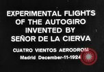 Image of Cierva autogyro Madrid Spain, 1924, second 4 stock footage video 65675072952