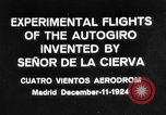 Image of Cierva autogyro Madrid Spain, 1924, second 7 stock footage video 65675072952