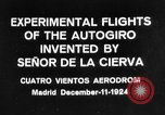 Image of Cierva autogyro Madrid Spain, 1924, second 8 stock footage video 65675072952