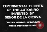 Image of Cierva autogyro Madrid Spain, 1924, second 10 stock footage video 65675072952