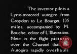 Image of Cierva autogiro Croydon London England United Kingdom, 1928, second 4 stock footage video 65675072956