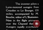 Image of Cierva autogiro Croydon London England United Kingdom, 1928, second 7 stock footage video 65675072956