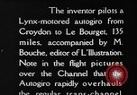 Image of Cierva autogiro Croydon London England United Kingdom, 1928, second 8 stock footage video 65675072956