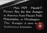 Image of Pitcairn autogyro Washington DC USA, 1929, second 1 stock footage video 65675072957