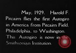 Image of Pitcairn autogyro Washington DC USA, 1929, second 3 stock footage video 65675072957