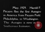 Image of Pitcairn autogyro Washington DC USA, 1929, second 6 stock footage video 65675072957