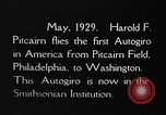 Image of Pitcairn autogyro Washington DC USA, 1929, second 7 stock footage video 65675072957
