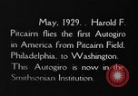 Image of Pitcairn autogyro Washington DC USA, 1929, second 8 stock footage video 65675072957