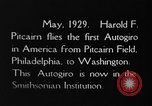Image of Pitcairn autogyro Washington DC USA, 1929, second 9 stock footage video 65675072957