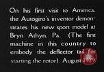 Image of autogyro Bryn Athyn Pennsylvania USA, 1929, second 9 stock footage video 65675072958
