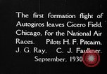 Image of autogyro Chicago Illinois USA, 1930, second 1 stock footage video 65675072960