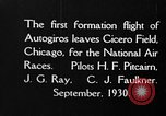 Image of autogyro Chicago Illinois USA, 1930, second 2 stock footage video 65675072960