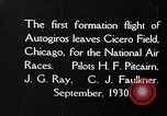 Image of autogyro Chicago Illinois USA, 1930, second 4 stock footage video 65675072960