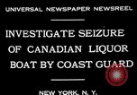 Image of Coast Guard officials New York United States USA, 1931, second 3 stock footage video 65675072967