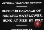 Image of Burned Presidential yacht Mayflower Philadelphia Pennsylvania USA, 1931, second 2 stock footage video 65675072969