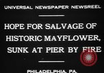 Image of Burned Presidential yacht Mayflower Philadelphia Pennsylvania USA, 1931, second 3 stock footage video 65675072969