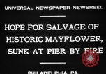 Image of Burned Presidential yacht Mayflower Philadelphia Pennsylvania USA, 1931, second 9 stock footage video 65675072969