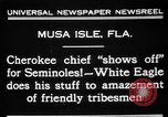 Image of Cherokee Chief Musa Isle Florida USA, 1931, second 6 stock footage video 65675072970
