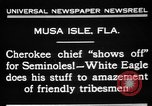 Image of Cherokee Chief Musa Isle Florida USA, 1931, second 7 stock footage video 65675072970