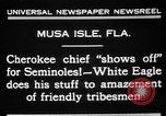 Image of Cherokee Chief Musa Isle Florida USA, 1931, second 8 stock footage video 65675072970
