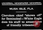 Image of Cherokee Chief Musa Isle Florida USA, 1931, second 10 stock footage video 65675072970