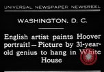 Image of artist paints Washington DC USA, 1931, second 1 stock footage video 65675072971