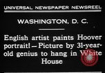 Image of artist paints Washington DC USA, 1931, second 9 stock footage video 65675072971