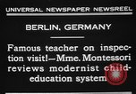 Image of Maria Montessori Berlin Germany, 1931, second 5 stock footage video 65675072972