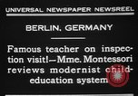 Image of Maria Montessori Berlin Germany, 1931, second 7 stock footage video 65675072972