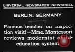 Image of Maria Montessori Berlin Germany, 1931, second 8 stock footage video 65675072972
