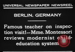 Image of Maria Montessori Berlin Germany, 1931, second 9 stock footage video 65675072972