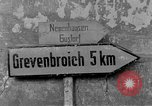 Image of 4th Cavalry Regiment M10 Tank destroyer enters town Grevenbroich Germany, 1945, second 4 stock footage video 65675072985