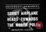 Image of Russian aviators depart Moscow in flight to North Pole Moscow Russia Soviet Union, 1937, second 2 stock footage video 65675073020