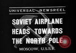 Image of Russian aviators depart Moscow in flight to North Pole Moscow Russia Soviet Union, 1937, second 3 stock footage video 65675073020