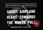 Image of Russian aviators depart Moscow in flight to North Pole Moscow Russia Soviet Union, 1937, second 6 stock footage video 65675073020