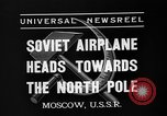 Image of Russian aviators depart Moscow in flight to North Pole Moscow Russia Soviet Union, 1937, second 7 stock footage video 65675073020