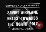 Image of Russian aviators depart Moscow in flight to North Pole Moscow Russia Soviet Union, 1937, second 11 stock footage video 65675073020