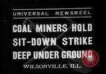 Image of coal miners strike Wilsonville Illinois USA, 1937, second 1 stock footage video 65675073024