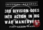 Image of 3rd Army Division troops Fort Lewis Washington USA, 1937, second 1 stock footage video 65675073028