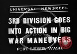 Image of 3rd Army Division troops Fort Lewis Washington USA, 1937, second 2 stock footage video 65675073028