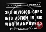 Image of 3rd Army Division troops Fort Lewis Washington USA, 1937, second 3 stock footage video 65675073028