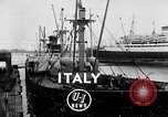 Image of arrival of coal Genoa Italy, 1947, second 1 stock footage video 65675073035
