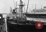 Image of arrival of coal Genoa Italy, 1947, second 6 stock footage video 65675073035