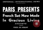 Image of lifestyle France, 1949, second 5 stock footage video 65675073140