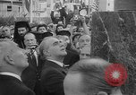 Image of unveiling of statue Greece, 1963, second 9 stock footage video 65675073169