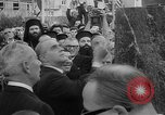 Image of unveiling of statue Greece, 1963, second 12 stock footage video 65675073169